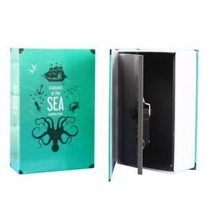 Home Book Safe With Combination Lock Hidden Diversion Storage Secret Box Large