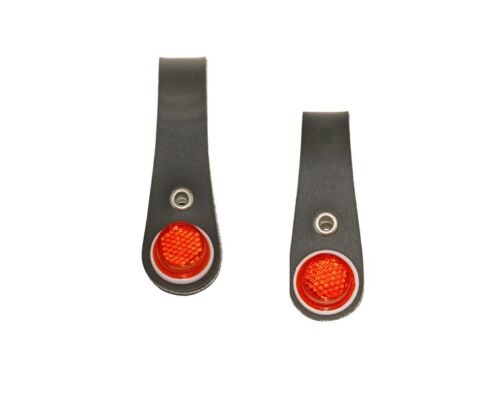 Pair of Bicycle Hub Shiners for Rear Coaster Brake Wheel and Front Wheel Red Ref
