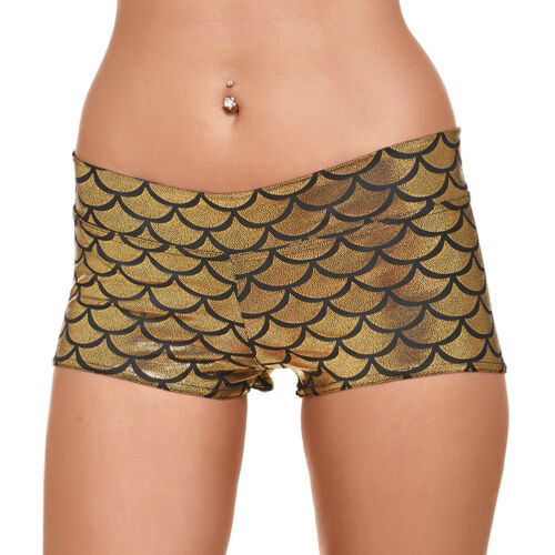 Women/'s Summer Casual Shorts Mermaid Fish Scale Pattern High Waist Fitness Pants