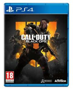 PS4 PLAYSTATION 4 CALL OF DUTY BLACK OPS 4 STANDARD EDITION NUOVO DVD ITALIA