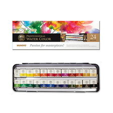 Mungyo Professional Paints Water Color Half Pan with 24 Colors Set MWPH-24/_RUB