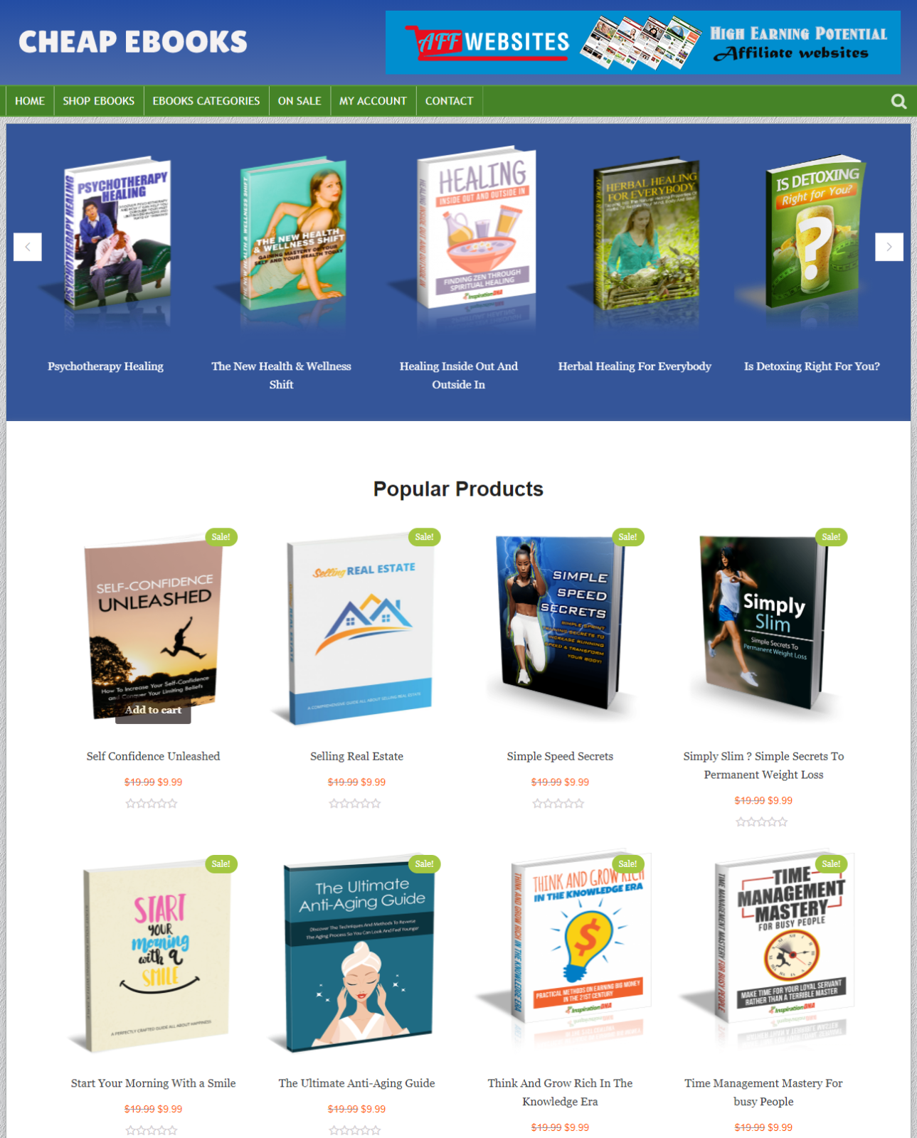 Digital Books Store - Fully Automated Work From Home Website Business For Sale
