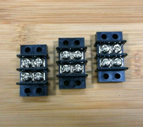 3 Blue Sea  20 amp 600 volt 2 Circuit Terminal Blocks