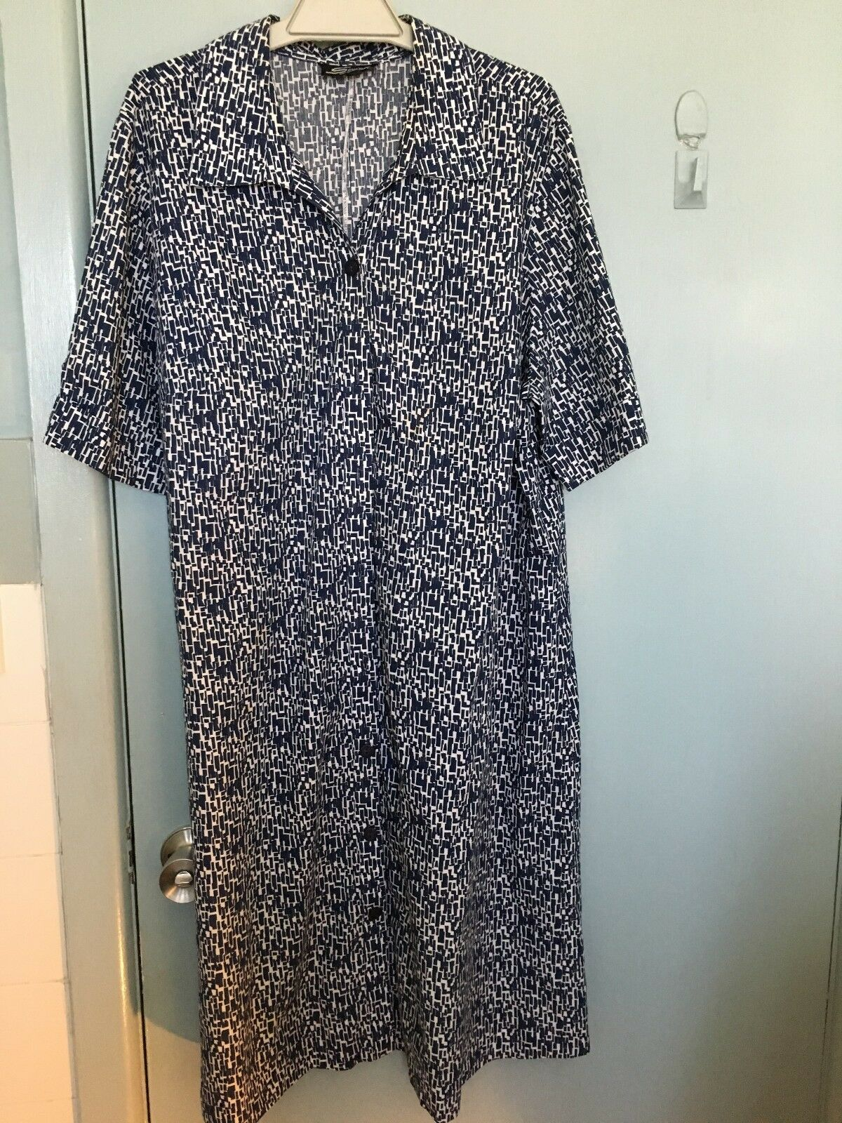 Swish navy and white dress in size 22