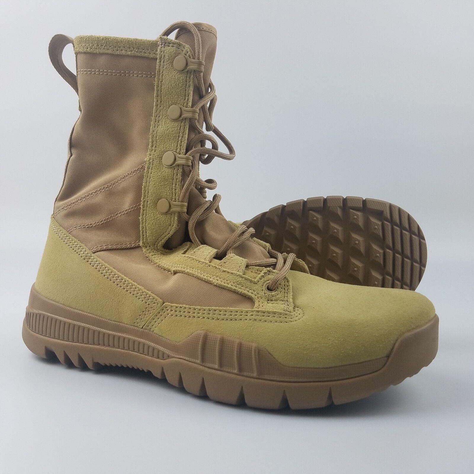 Nike SFB Field 8  Leather Boots Mens Size 6 British Khaki Tan 688974-200
