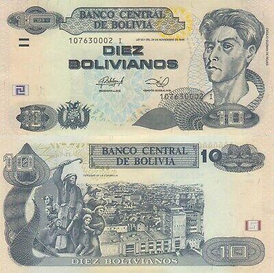 LOT Bolivia 10 Bolivianos ND//2011 Series I p238 x 5 PCS UNC