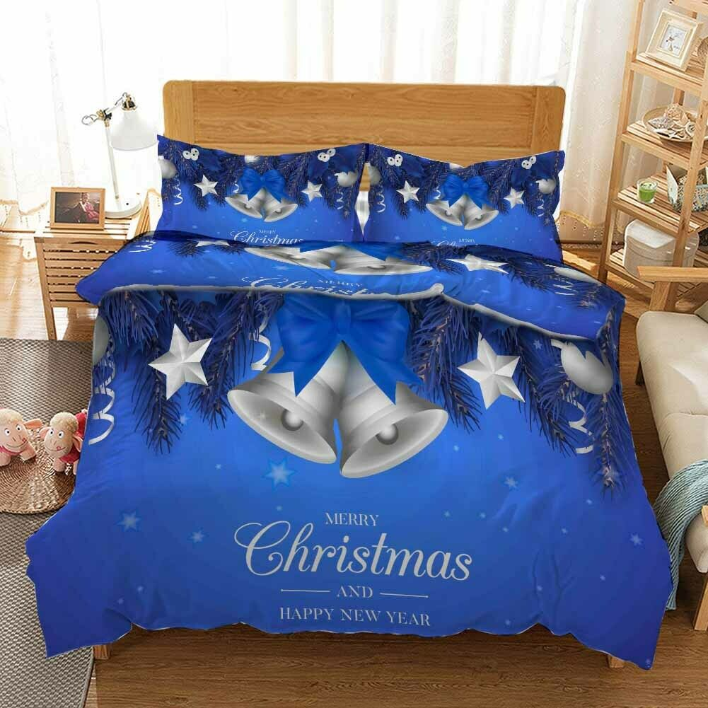 Weiß Horn Christmas 3D Print Duvet Quilt Doona Covers Pillow Case Bedding Sets