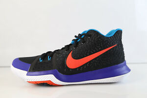 90fd8b75318 Nike Kyrie 3 Kyrache Light Black Team Orange Concord 852395-007 10 ...