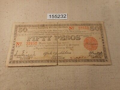 Philippines Emergency Guerilla Currency Negros WWII Fifty Pesos Nice - #  155232 | eBay