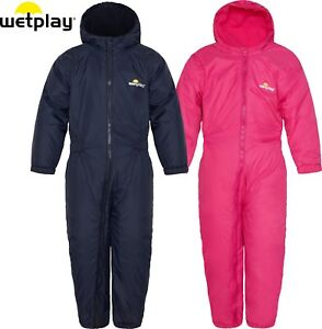 8742a7b7c0df Details about Wetplay Kids Padded All-In-One Waterproof Rain Suit Snowsuit  Childs Boys Girls