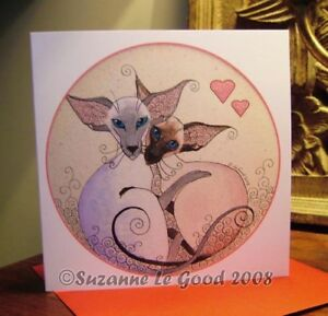 Siamese-Cat-art-Valentines-or-birthday-card-original-design-by-Suzanne-Le-Good