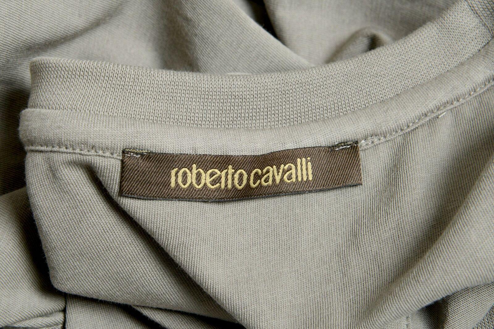 Roberto Cavalli Uomo Grigio Illustrato Maculato Girocollo T-Shirt TAGLIA TAGLIA TAGLIA S M XL e44ef1