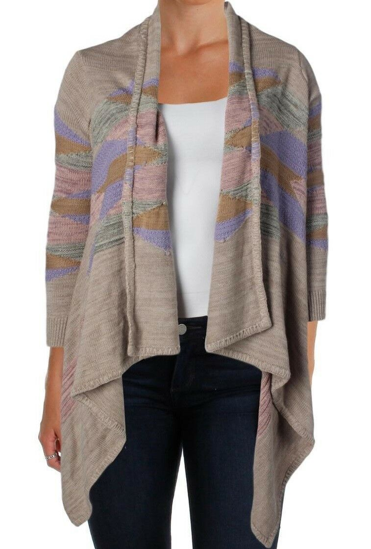 Lauren Ralph Lauren Womens  NWT Long Cardigan Sweater Unisize S M L XL Taupe