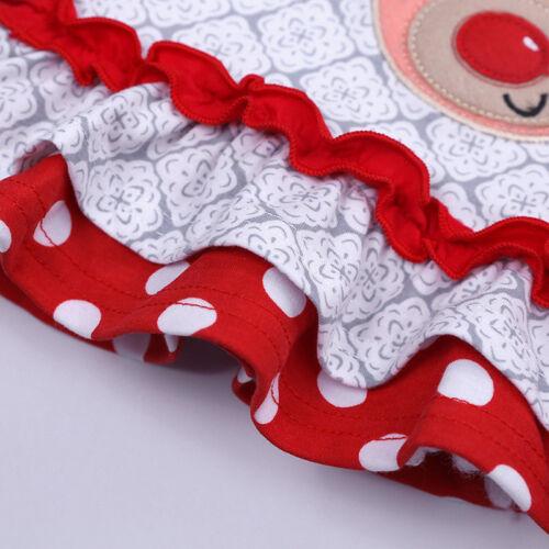 2Pcs Xmas Toddler Kid Baby Girl Tops+Leggings Pants Outfit Christmas Clothes Set
