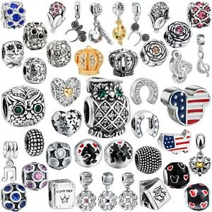 Fashion-Fine-Jewelry-European-Beads-Charms-Fit-Women-925-Silver-Bracelets-Chain