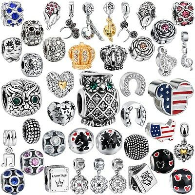 New Women Jewelry Silver Fashion European Charms Fit 925 Sterling Bead Bracelets
