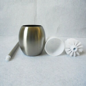 Stainless-Steel-Bathroom-Toilet-Brush-Round-Holder-Standing-Free-Cleaning-Set