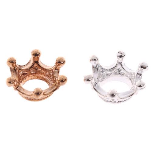 2x 1:12 Dollhouse Miniature Mini Metal Crown Model Toys Accessories $T