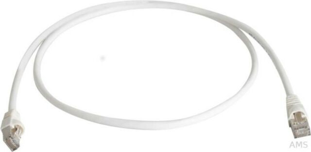 Telegärtner Câble Patch S/FTP 6A Blanc Crème (Ws ) 0,5m 1x180Grd L00000A0130