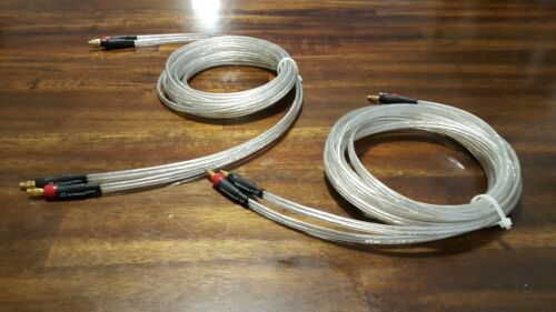 ELF Cus Cables Silver Surfer OCC silver Speaker Cables 8ft w banana plugs