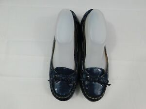 77e1f7a067da SPERRY TOP SIDER Flats Blue Textured Patent Leather Women s Size 9M ...