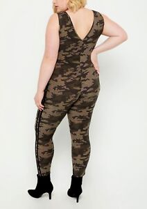 PLUS SIZE Gray /& Black Camo Floral Leggings Camouflage Army Print TC Curvy 12-18