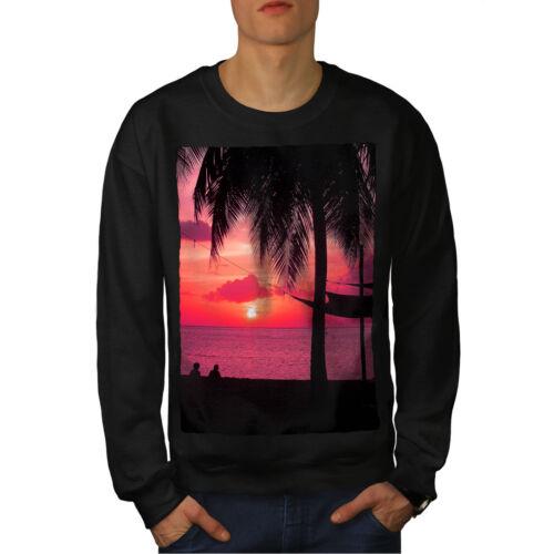 da uomo New Felpa romantica Sunset Black nYSd0Pqw