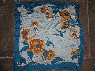 Aggressivo Blu Vintage Con Turchesi Sciarpa Rockabilly Mod Blu Turchesi 50s 60s 70s-mostra Il Titolo Originale