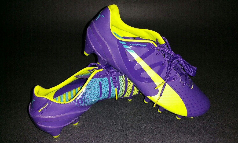 Puma evospeed 1.3 FG, Prism purple Yellow, Size 7.5
