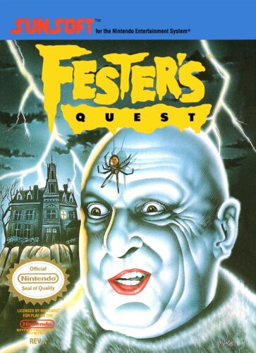 Retro Fester/'s Quest Game Poster////NES Game Poster////Video Game Poster////Vintage Ga