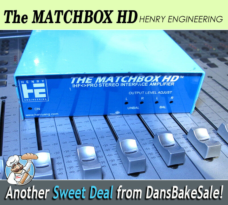 Matchbox HD Henry Engineering Bi-Directional Stereo Level & Impedance Interface