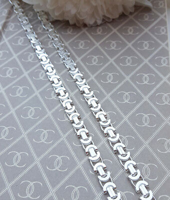 """2.5mm Bali Handmade Solid Sterling Silver BYZANTINE Chain Necklace  20/""""-24/"""""""