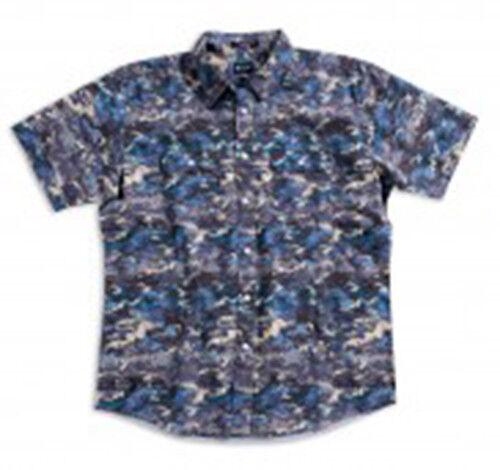 MATIX Aloha Camo Woven Shirt (L) Ash bluee