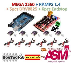 Mega-2560-R3-RAMPS-1-4-Control-Panel-5pcs-DRV8825-Stepper-6pcs-Endstop