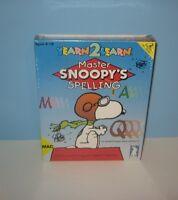 1994 Master Snoopy's Spelling Game Mac / Macintosh Brand Factory Sealed