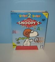 1994 Master Snoopy's Spelling Game Mac / Macintosh Brand Factory Sealed