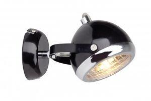 Spot da parete colore nero lampada design forma rotonda