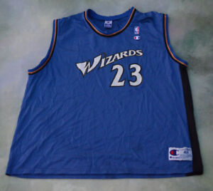 the latest 3625e 937f5 Details about Vintage Champion NBA Washington Wizards Michael Jordan #23  Jersey Size 48.