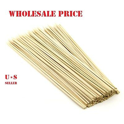 "90-900  8"" Bamboo Skewers Wood Sticks  BBQ Shish Kabob Fondue Grill LOT!!!"
