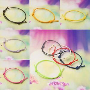 50-Strand-Adjustable-Korea-Cotton-Wax-Cord-Bracelet-Finding-Making-Craft-40-70mm