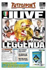 TUTTOSPORT 22/05/2017  FC JUVENTUS CAMPIONE D'ITALIA 2016/17 JUVE 6 LEGGENDA