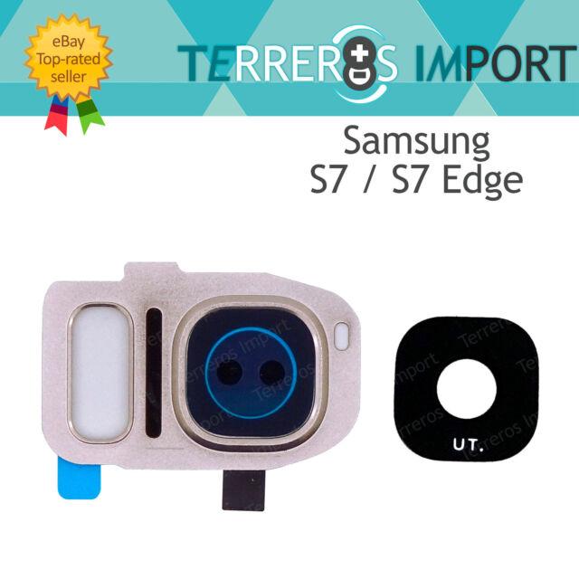 Lente Dorado Embellecedor Camara Trasera para Samsung Galaxy S7/Edge G930F G935F