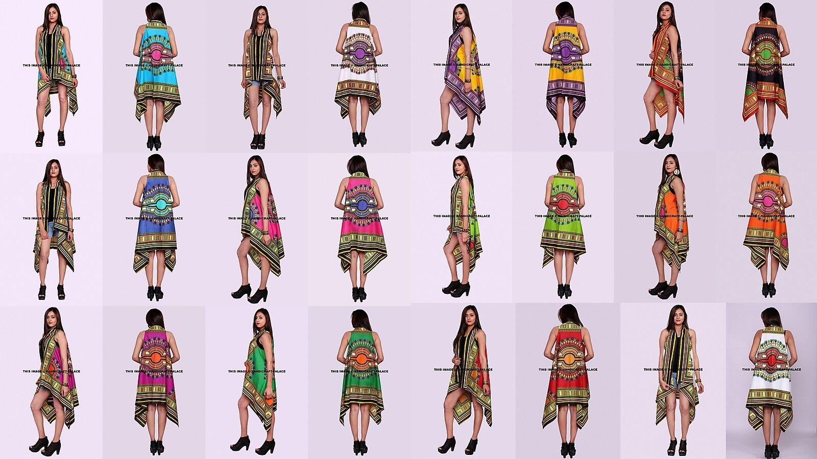 5 PCs LOT Dashiki damen Floral Loose Casual Cotton Cardigan Jacket Kimono Coat