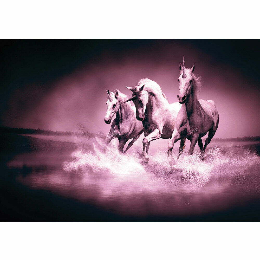 Foto Mural Unicornios Agua Caballo Agua Moho Carreras Liwwing N°1017