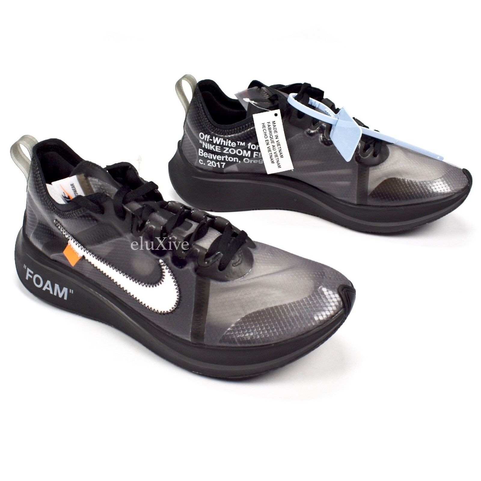 NWT Nike Off-White Virgil Abloh Air Zoom Fly Black White Men's 9 2018 AUTHENTIC