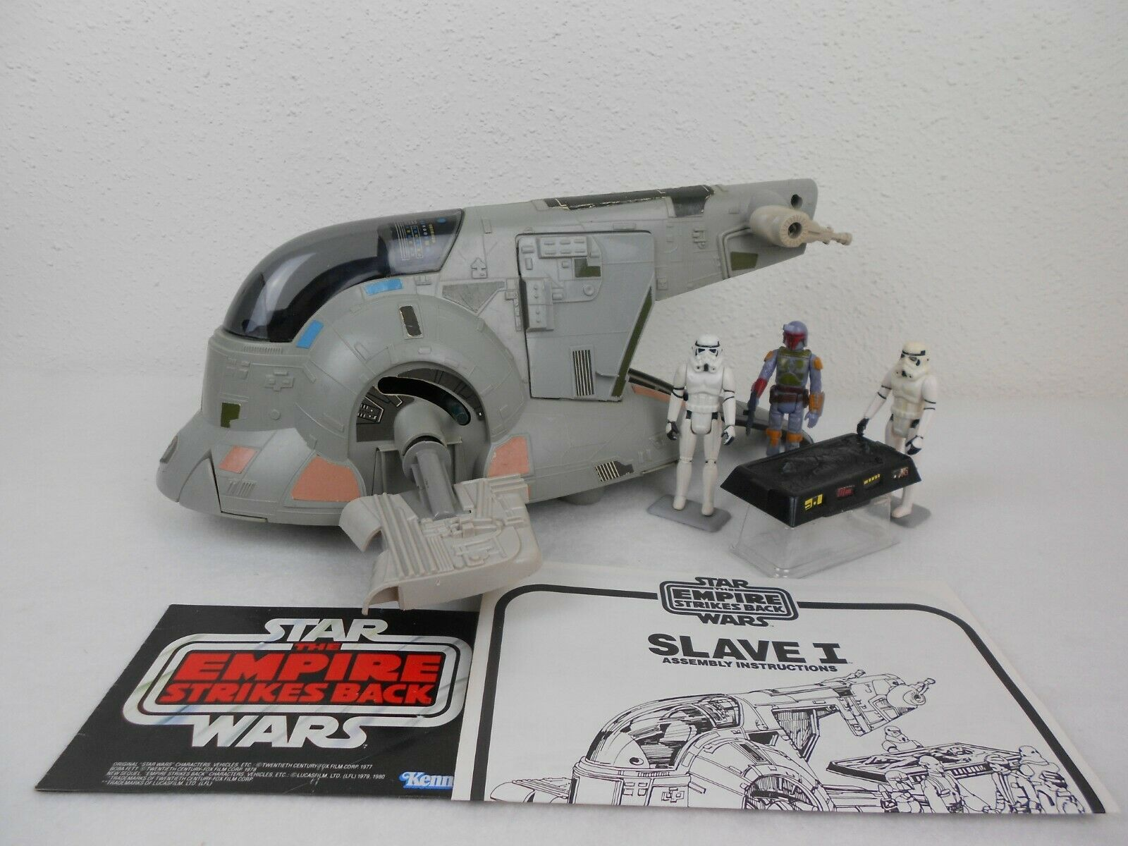 Vintage Star Wars ESB 1981 Slave One  Very Nice  - Fully Functional - Complete