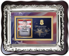 Sheriff police academy graduation picture frame policeman photo plaque school