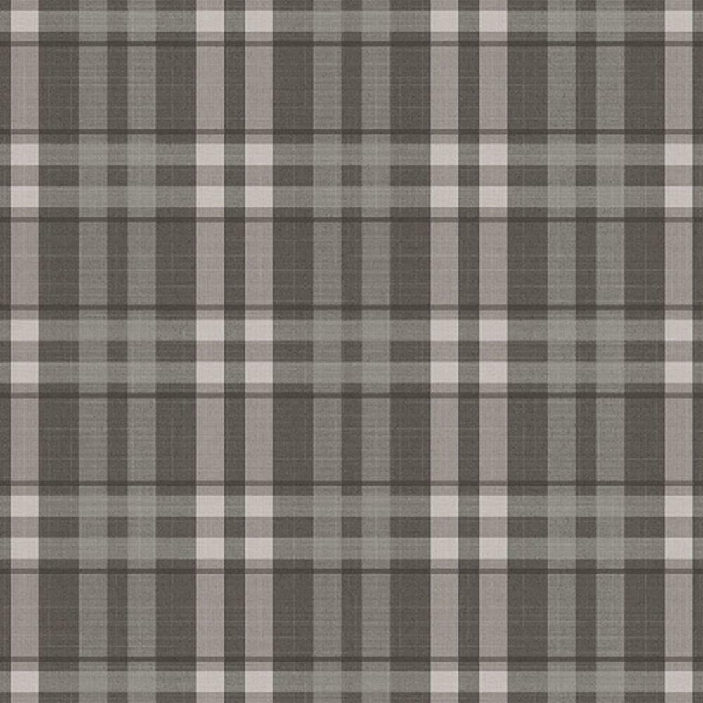 G45307 - Vintage pinks Plaid Charcoal Galerie Wallpaper