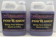 Battery PowR Shot, 2- 1 Qt Bottle of Desulfation/Equalizer Battery Fluid