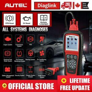 Autel Diaglink OBD2 Scanner Fault Code Reader Car Diagnostic Tool ABS SRS Engine